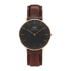 dw watches rose gold black collection bristol 36mm